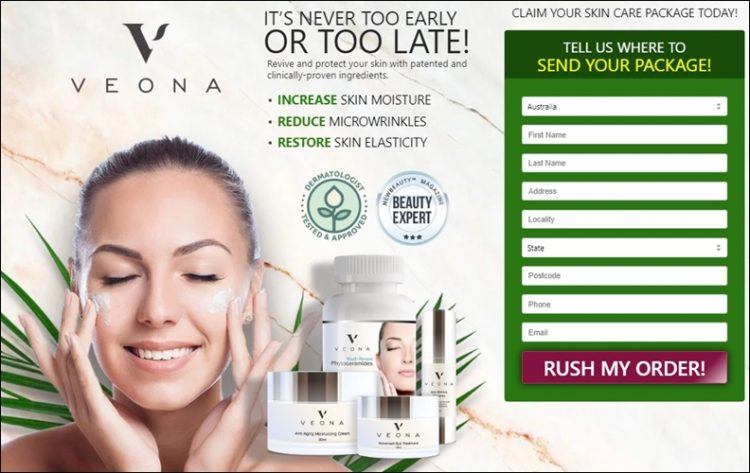 veona skincare - never too early or too late - to buy at discount
