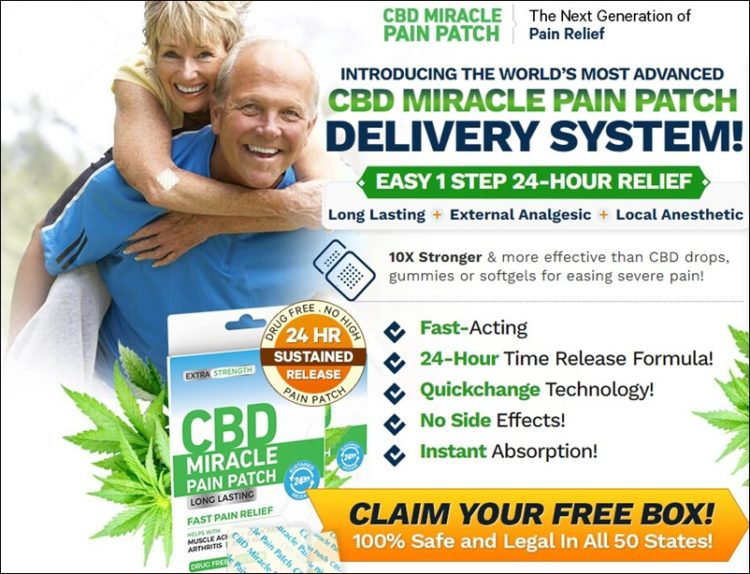 advanced cbd miracle pain patch delivery system - claim your free box in usa