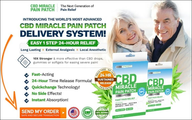 cbd miracle pain patch long lasting fast relief - cannabidiol formula order now