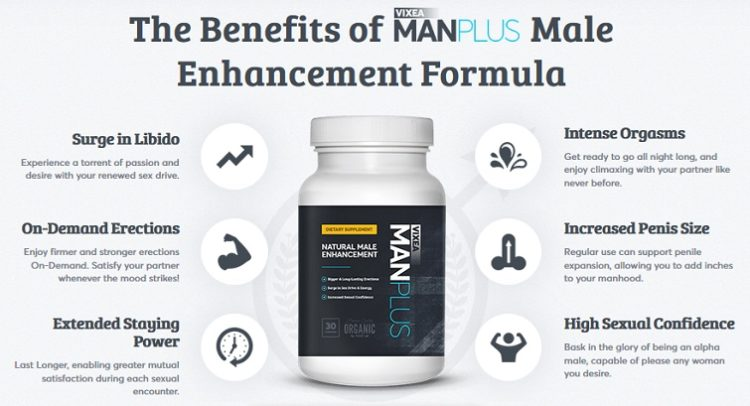 vixea manplus male enhancement - benefits like libido upsurge