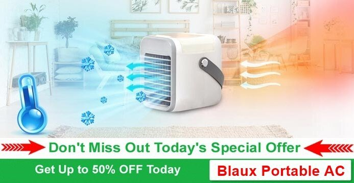 blaux portable ac mini cooler review - more than 50 percent off